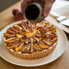Creme Pastry Peach Torte is made using our Gluten Free Sweet Vanilla bean Pastry & requires NO rolling or blind baking! Follow our easy step by step guide.