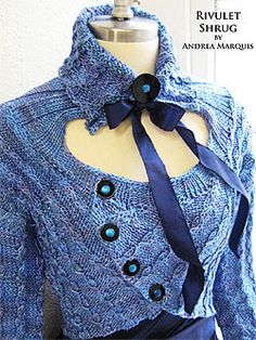 I'd do something else at the neck tough… JUL Rivulet Shrug Pattern at Dream Weaver Yarns LLC