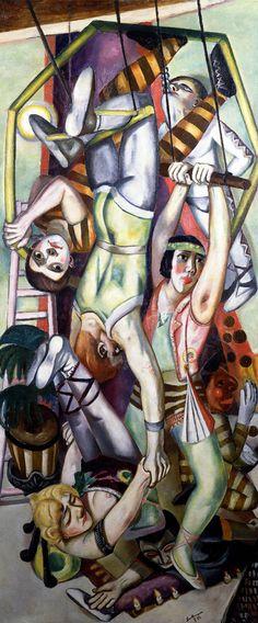 Max Beckmann (German 1884–1950) [Neue Sachlichkeit, German Expressionism] The Trapeze, 1923.