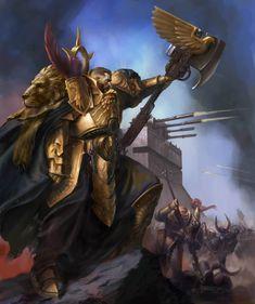 Trajann Valoris, Captain-General of Legio Custodes Warhammer 40k Memes, Warhammer Models, Warhammer Art, Warhammer Fantasy, Warhammer 40000, Dark Fantasy, Fantasy Art, Cyberpunk, Sisters Of Silence