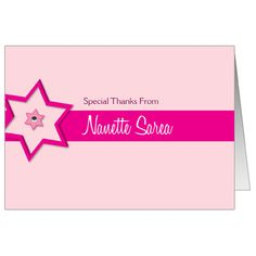 88 best bar bat mitzvah thank you cards images on pinterest bat this fun and colorful bat mitzvah thank you card features a fuchsia star of david and a special thank you message from your child m4hsunfo
