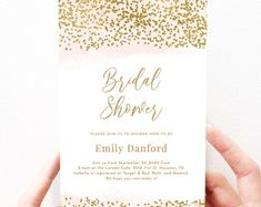 Editable DIY Shower Invitation Templates by FieldandFountain