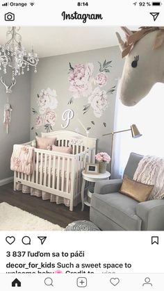 7 Hottest Baby Nursery Decor Trends for Baby Nursery Decor Girls Wall Decal, Pink. 7 hottest baby nursery decor trends and ideas for Ideas for boys, girls and gender neutral baby bedrooms. Baby Girl Nursery Decor, Baby Bedroom, Nursery Design, Baby Room Decor, Girls Bedroom, Baby Girl Rooms, Baby Nursery Ideas For Girl, Babies Nursery, Baby Girl Nurseries
