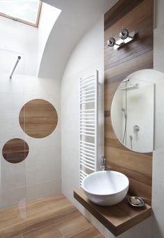 carrelage-salle-bains-bois-clair-cabine-douche-verre-dépoli carrelage salle de bain