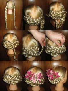 Use these braids for natural and braided tribal fusion belly dance hair buns! Or wear them as hair falls and braided braids - handmade in your hair color! Chignon Hair, Braided Bun Hairstyles, Dance Hairstyles, Braided Ponytail, Braided Buns, Tribal Fusion, Renaissance Hairstyles, Tribal Hair, Crimped Hair