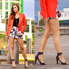 Charlotte  Bridgeman - Bec & Bridge Shorts, Saba Blazer, Tony Bianco Heels, Witchery Clutch - On The Docks