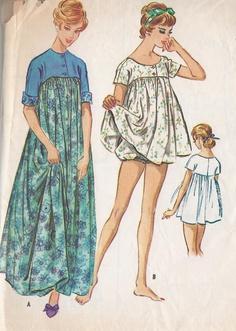 Vintage 1950's  Misses Muu Muu And Shortie Pajama