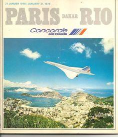 Air France Timetable- Concorde flight to Rio