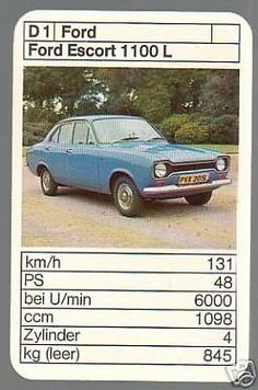 Ford Escort 1100 L Top Trumps, Ford Escort, Cars And Motorcycles, Hot Wheels, Vintage Cars, Cool Cars, Cork, Graphic Art, Classic Cars