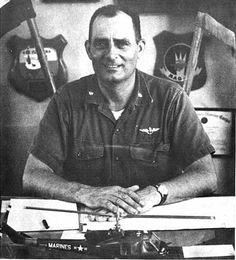 (LTC Joseph A. Nelson, Commanding Officer, VMO-6. Note the UH-1E model on his desk