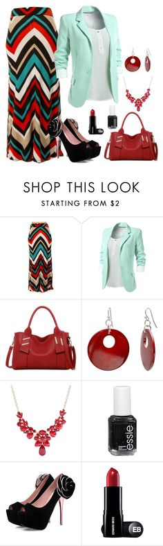 """mahmmod"" by mahmmodhafes ❤ liked on Polyvore featuring LineShow, Mixit and Essie"