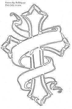 Scroll saw cross