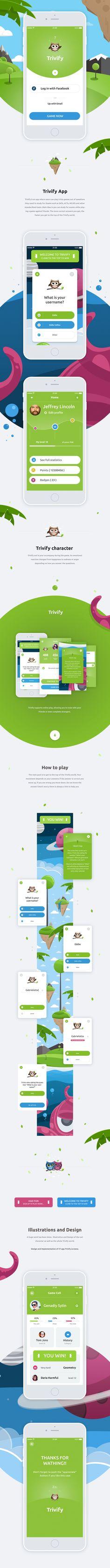 Trivify mobile app on App Design Served Web Design, App Ui Design, User Interface Design, Illustration Vector, App Design Inspiration, Mobile Ui Design, Mobile App Ui, Instructional Design, Android