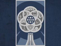EPCOT Center 30th Anniversary Poster Art by Stephen Christ, via Kickstarter.