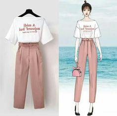 Fashion Drawing Dresses, Fashion Illustration Dresses, Korean Fashion Dress, Ulzzang Fashion, Korea Fashion, Korean Outfits, Asian Fashion, Girls Fashion Clothes, Teen Fashion Outfits