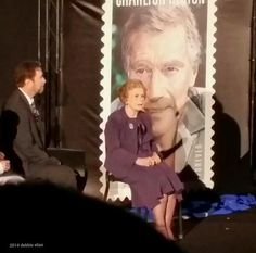 Charlton Heston, release of stamp in his honor: his wife