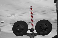 Train barrier - Valladolid My Photos, Symbols, Train, Black And White, Art, Art Background, Blanco Y Negro, Black White, Icons