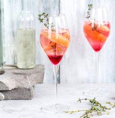 Sekt aus der Flasche ist dir zu langweilig? Pimp your Sekt mit Grapefruit und Granatapfel!