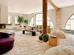 35 Modern Interior Design Ideas Incorporating Columns into Spacious ...