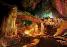 fantasy city concept art | Concept art for Orzammar, the Dwarven City in Dragon Age.