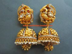 Nakshi Design Gold Jhumkas | Latest Indian Jewellery Designs