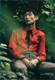 Sang Woo Kim is tres chic in Paul & Joe and Ermanno Scervino.