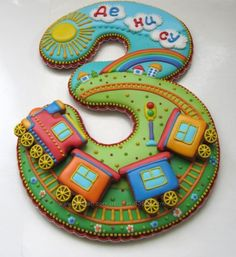 Birthday cake number sugar cookies 32 new Ideas Cookies For Kids, Fancy Cookies, Iced Cookies, Cute Cookies, Royal Icing Cookies, Cupcake Cookies, Sugar Cookies, Galletas Cookies, Fondant Decorations