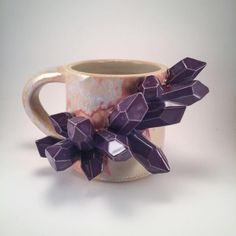 """chaotekojote: """"thecrackedamethyst: """" sosuperawesome: """" Mugs, Vases, Dishes and Incense Holders by Essarai Ceramics on Etsy More like this """" *gasp* I need a crystal incense holder! """" holy shit me too """" Ceramic Cups, Ceramic Art, Crystal Holder, Clay Art Projects, Crystal Decor, Crystal Shop, Decorating On A Budget, Tea Pots, Pottery"""
