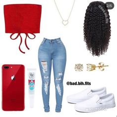 Baddie Outfits Casual, Swag Outfits For Girls, Cute Swag Outfits, Teenage Girl Outfits, Cute Comfy Outfits, Teen Fashion Outfits, Dope Outfits, Retro Outfits, Simple Outfits