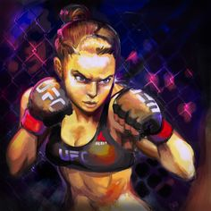 So I just had to paint Ronda Rousey after last ufc. I'm still thinking about it. Posted it on instagram the other day and it actually started getting a lot of likes 2 days after I posted it. ...