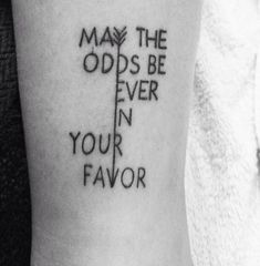 'May The Odds Be Ever In Your Favor' | 13 Peeta Inspired 'Hunger Games' Tattoos For Anyone Who's in Love With The Boy With The Bread | Bustle