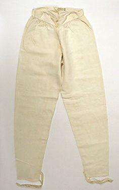 Drawers | American | The Metropolitan Museum of Art 1800s Fashion, Edwardian Fashion, Mens Fashion, Historical Costume, Historical Clothing, 1800s Clothing, Men's Clothing, Vintage Underwear, Male Underwear