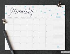 Confetti Printable Calendars