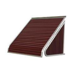 NuImage Awnings, 3 ft. 3500 Series Aluminum Window Awning (24 in. H x 20 in. D) in Burgundy, 35X5X4216XX05X at The Home Depot - Mobile