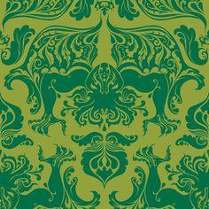 I Love Craft (Cthulhu Damask) fabric by rosalarian on Spoonflower - custom fabric