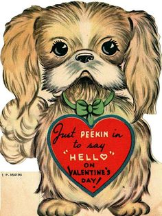 Just Peekin In... vintage valentine card