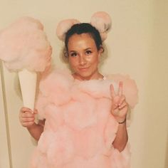 DIY Cotton Candy Halloween Costume Idea