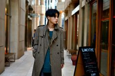 Easy way to lose weight Street Style Magazine, Asian Men Hairstyle, Tokyo Street Style, Wool Trench Coat, Mens Fashion, Street Fashion, Leather Pants, Street Wear, Handsome