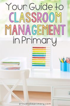 A teacher's guide to classroom management that includes techniques, articles, tools, and resources to use in the primary (kindergarten, first grade, and second grade) classroom. Use these positive ideas and strategies (like coupons and jobs) to build an effective system, minimize negative behavior, and create a well-run classroom environment! Find ideas on morning meetings, transitions, and using brain breaks. Plus sign up to receive a free email course to get started! #classroommanagement
