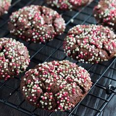 This recipe for Chocolate Christmas Crinkle Cookies from Erren's Kitchen is a festive twist on a traditional treat.