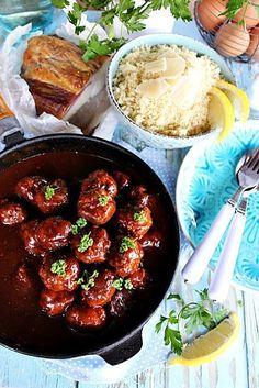 Illéskrisz Konyhája: ~ BBQ HÚSGOLYÓ KUSZKUSSZAL ~ Bbq, Yummy Food, Ethnic Recipes, Barbecue, Barrel Smoker, Delicious Food