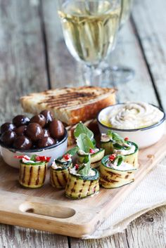 Hungry: Eleven Great Share Platters  (Courgette rolls with Feta, Mint & Chilli at Simply Delicious)