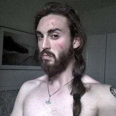 long side ponytail for men