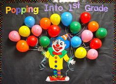 End the Year with a Bang! - Count down bulletin board with real ballons