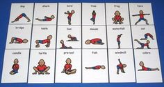 yoga visuals - perhaps to use with kids with autism group