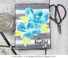 paperie blooms: simon says stamp/floral frenzy - life looks beautiful on you