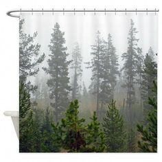 Meditation Shower Curtain,Natural Floral Meadow Landscape with Trees on The Hill August Season Watercolor,Cloth Fabric Bathroom Decor Set with Hooks 36x72 Inches