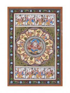 Ashta Vinayak Pattachitra Artwork on Canvas 19in x 13in