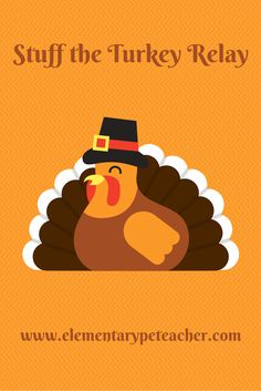 A fun Thanksgiving time relay activity!  Focuses on improving balance and coordination skills.