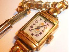 Vintage SUFFRAGETTE Ladies rolled gold wrist watch by martonmere